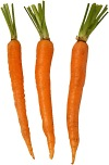 Carrots contain carotene, which your body converts to vitamin A.