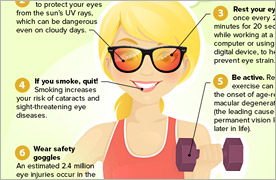 Infographic: 8 Tips for Healthy Eyes in the New Year