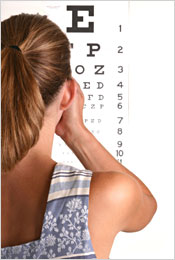The Snellen eye chart is used as a starting point in determining your prescription.