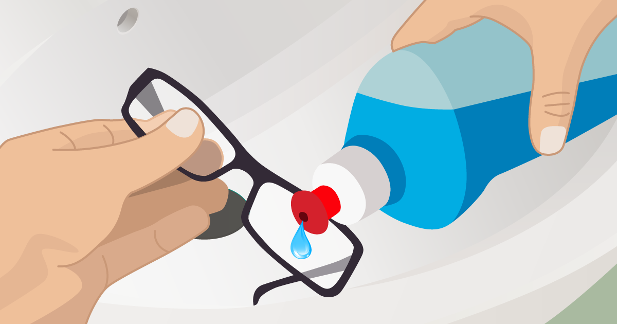 8 steps to clean eyeglasses and 5 things not to do