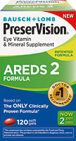 Bausch + Lomb PreserVision Eye Vitamin and Mineral Supplement - AREDS2 Formula