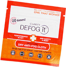 Defog It anti-fog dry cloths