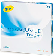 90-pack of 1-Day Acuvue TruEye Brand Contact Lenses