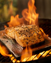 Grilled salmon is an excellent natural source of omega-3 fatty acids.