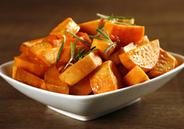 Sweet potatoes and carrots are excellent sources or provitamin A carotenoids that are good for your eyes.