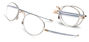John Varvatos folding reading glasses with photochromic lenses for men. Please click here for a closeup photo.