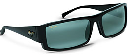 Akamai sunglasses in black by Maui Jim