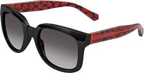 Limited-edition heart-printed frame by Marc by Marc Jacobs.